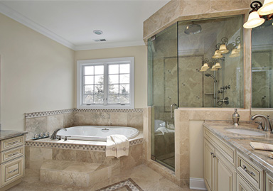 custom-bathroom-tumbled-marble-sunflower-shower-granite-countertop-home-renovation--toronto-ontario-new-way-contractors
