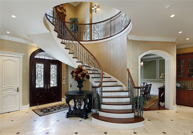 front-hall-entrance-french-stairs-porcelain-tiles-renovation-toronto-ontario-new-way-contractors